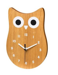 Thursday Must Have Owl Clock Indigo